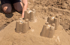 Castles of Sand Royalty Free Stock Photos