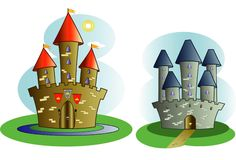 Castles of storybook legend Royalty Free Stock Image