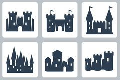 Castles vector icons Royalty Free Stock Images
