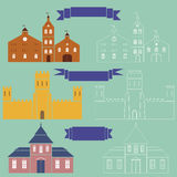 Castles. Vector illustrations of three castles Royalty Free Stock Image