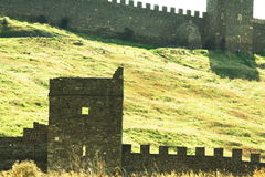 Castles wall Stock Photography