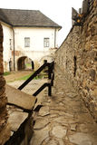Castles wall in Lubovna. Royalty Free Stock Image