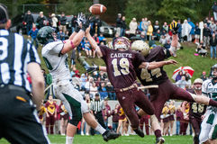 Castleton v Norwich College Football Royalty Free Stock Images