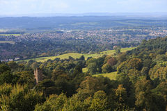 Castlew within a Forest overlooking City Stock Photography