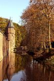 Castlewall with canal Holland Stock Image