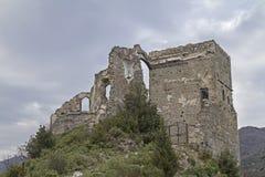 Castll in Zuccarello Stock Photography