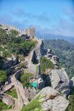 Castlo dos mouros. Portugal Sintra ruins Royalty Free Stock Images