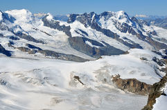 Castor Pollux and the Breithorn Stock Photography