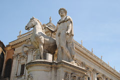 Castor and Pollux at the entrance to the Piazza Ca Stock Photo