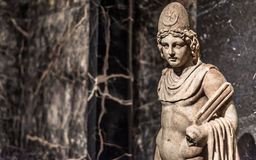 Castor or Pollux marble Statue from Italy Stock Photos
