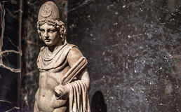 Castor or Pollux marble Statue from Italy Royalty Free Stock Photo