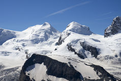 Castor and Pollux peaks Stock Photography