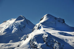 Castor and Pollux summits Stock Image