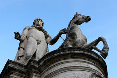 Castor statue in Rome, Capitoline Hill, Italy Stock Photography