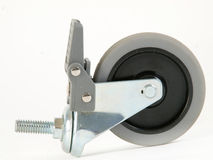 Castor Wheel with Foot Brake. Made of Thermo-Plastic Rubber (TPR stock photography