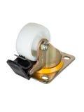 Castor with wheel lock Royalty Free Stock Photos