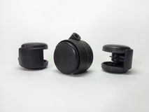 Castors for furniture. Black. Castors for furniture. From all sides Royalty Free Stock Photo