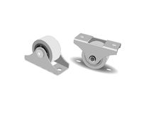 Castors for furniture. The rollers for furniture. Wheels Royalty Free Stock Photography