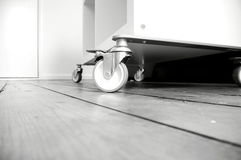Castors wooden floor A Royalty Free Stock Photography