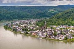 Castre en el río Rhine, Alemania imágenes de archivo libres de regalías