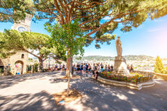 Castre fyrkant i Cannes Arkivbild