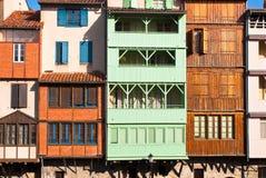 Castres facades royaltyfri bild