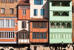Castres facades arkivbild