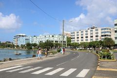 Castries city center, St. Lucia Royalty Free Stock Photos