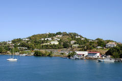 Castries Harbour St Lucia. Castries harbour in St Lucia the West Indies Royalty Free Stock Photography
