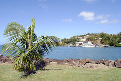 Castries Harbour St Lucia. Castries harbour in St Lucia the West Indies Royalty Free Stock Photo