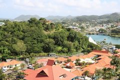 Castries marina, St Lucia Stock Photo