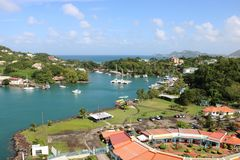 Castries marina, St Lucia Stock Photos