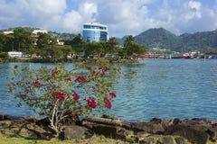 Castries Saint Lucia som är karibisk Arkivbild