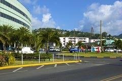 Castries Saint Lucia som är karibisk Arkivfoto