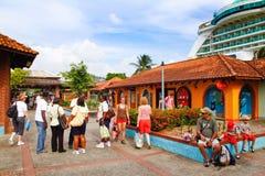 Castries St Lucia - acceso portuario de la travesía de Seraphine Fotos de archivo libres de regalías