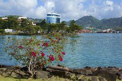 Castries, St Lucia, del Caribe Fotografía de archivo