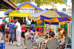 Castries St. Lucia - Piton Beer Lounge Stock Image