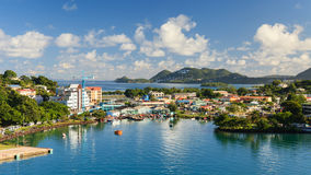 Castries Waterfront Stock Photos