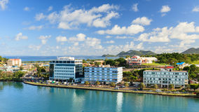 Castries Waterfront Royalty Free Stock Photos
