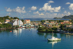 Castries Waterfront Royalty Free Stock Photography