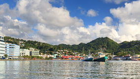 Castries Waterfront Stock Photography