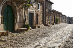 """Castrillo de los Polvazares. Is a village situated in Leon, in North-west of Spain. it is one of the few places of the """"Maragatería"""" which still keeps its Stock Photography"""