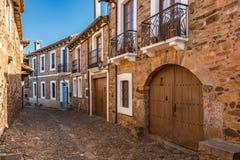 Castrillo De Los Polvazares wiosk? jest lokalizuj?cym w Leon, w P??nocnych zachodach Hiszpania Ja jest jeden few miejsca Maragate zdjęcia stock