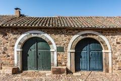 Castrillo De Los Polvazares wiosk? jest lokalizuj?cym w Leon, w P??nocnych zachodach Hiszpania Ja jest jeden few miejsca Maragate zdjęcia royalty free