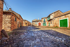 Castrillo de los Polvozares, villaggio tipical della Castiglia, Leon, S Fotografia Stock