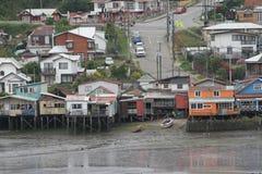 Castro on Chiloe Island, Chile Stock Photography