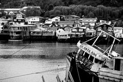 Castro on Chiloe Royalty Free Stock Photos