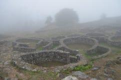 Castro de Santa Tecla Saint Tecla fort Royaltyfria Foton