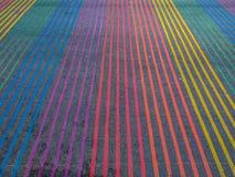 Castro District Rainbow Colored Crosswalk-Schnitt, San Francisco, Kalifornien Lizenzfreies Stockbild