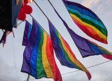 Castro District Rainbow Colored Flag, San Francisco, California stock photos